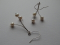 pearl drop earrings, sterling silver and Freshwater pearls. £75