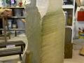 Tetbury limestone sculpture. Starting off.