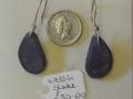 Welsh slate earrings with sterling silver hooks