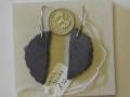 Welsh slate earrings with sterling silver wire hooks.