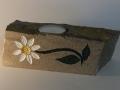 Daisy tealight holder carved in sandstone from Birch Hill in The Forest of Dean, £38