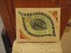 Mosaic wall plaque. 7.5x6x1.5
