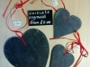 Welsh Slate hearts. various sizes