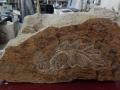 Hand carved Forest of Dean sandstone decoration.