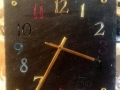 Welsh slate clock multi coloured numbers