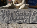 The Tasting Room, raised letters on Forest of Dean sandstone