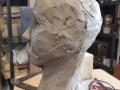 Clay maquette of George Hyatt. Work in progress.