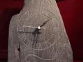 Hand carved heather Welsh slate clock
