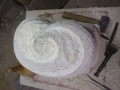 Start of new seashell inspired carving. Painswick limestone.