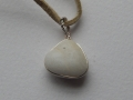 Quartz and sterling silver pendant
