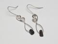 Welsh slate and Sterling silver earrings