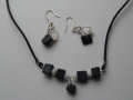 mother of pearl and slate set with sterling silver