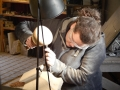Using flat chisel to tidy the mitre