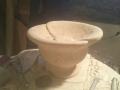 Finishing off the poppy bowl