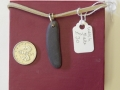 Welsh slate and sterling silver pendant 1