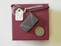 Welsh slate pendant with sterling silver wire