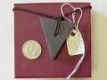 Welsh slate triangle pendant