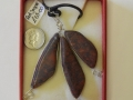 3 piece Red jasper and sterling silver pendant