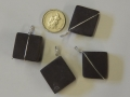 Selection of Welsh slate and sterling silver pendants.