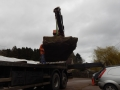 stone coming off the lorry