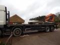stone on lorry