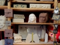 An assortment of carvings and creations in my studio for sale