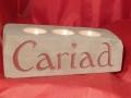 Cariad 3 tealight holder. A Welsh term of endearment.