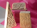 Flowers hand carved in a mix of Tetbury limestone and Forest of Dean sandstone